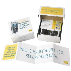 Optus - Hi-Impact Mail Out with Personalised Optus Phone