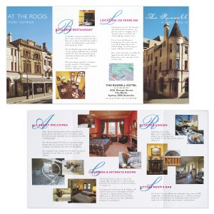 Photography and Brochure Design for the Russell Hotel